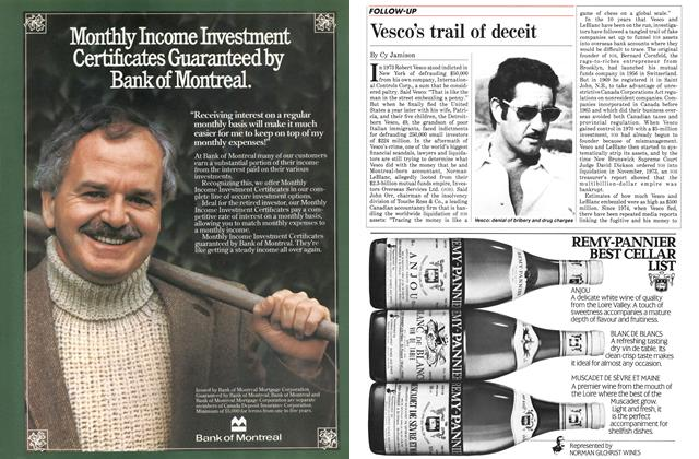 Article Preview: Vesco's trail of deceit, November 1984 | Maclean's