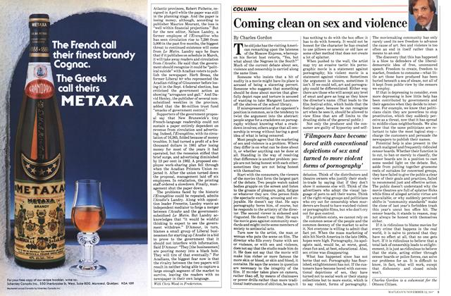 Article Preview: Coming clean on sex and violence, November 1984   Maclean's