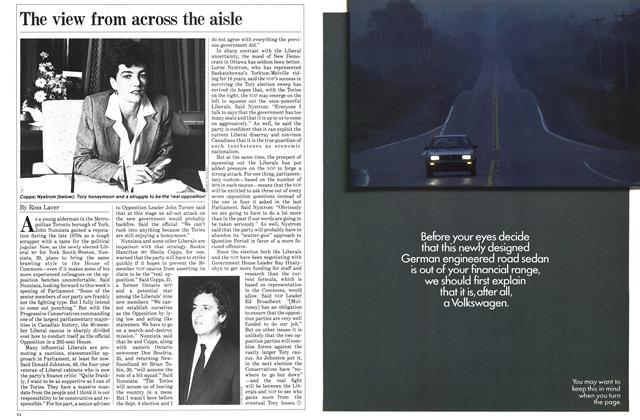 Article Preview: The view from across the aisle, November 1984   Maclean's