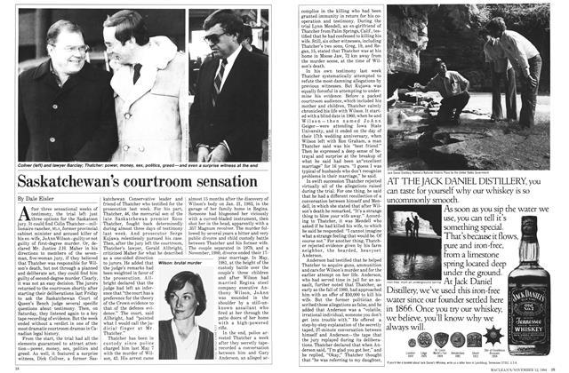 Article Preview: Saskatchewan's courtroom sensation, November 1984 | Maclean's