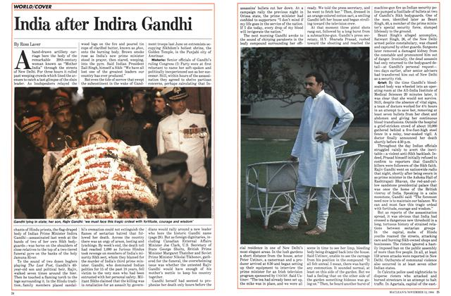 Article Preview: India after Indira Gandhi, November 1984 | Maclean's