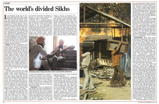 Article Preview: The world's divided Sikhs, November 1984 | Maclean's