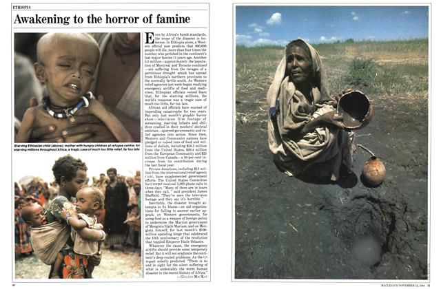 Article Preview: Awakening to the horror of famine, November 1984 | Maclean's