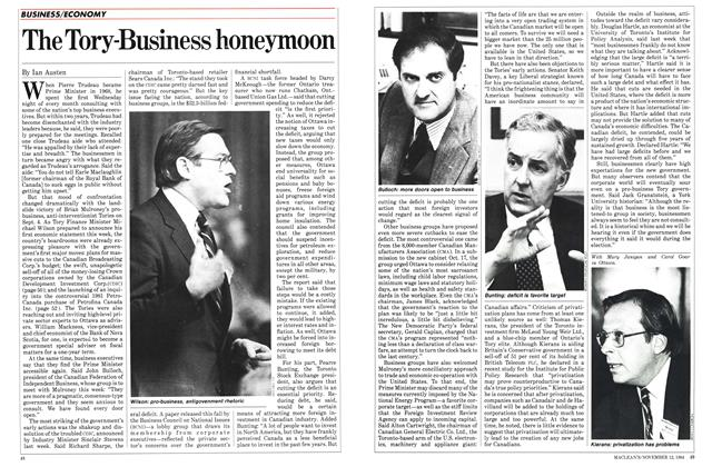 Article Preview: The Tory-Business honeymoon, November 1984 | Maclean's