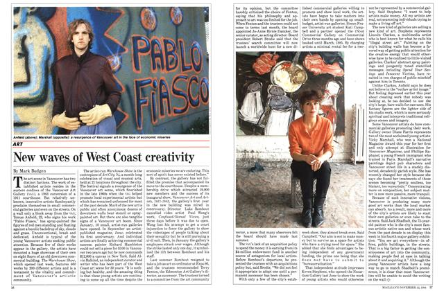 Article Preview: New waves of West Coast creativity, November 1984 | Maclean's