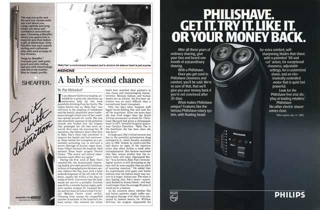 Article Preview: A baby's second chance, November 1984 | Maclean's