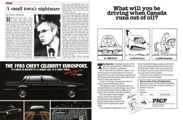 Article Preview: A small town's nightmare, November 1984   Maclean's