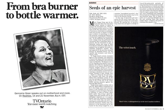 Article Preview: Seeds of an epic harvest, November 1984 | Maclean's