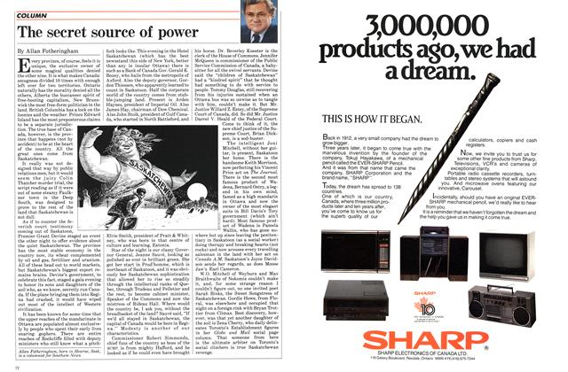 Article Preview: The secret source of power, November 1984 | Maclean's