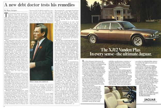 Article Preview: A new debt doctor tests his remedies, November 1984 | Maclean's