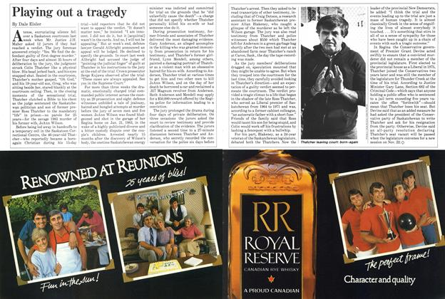 Article Preview: Playing out a tragedy, November 1984 | Maclean's