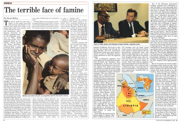Article Preview: The terrible face of famine, November 1984 | Maclean's
