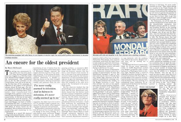Article Preview: An encore for the oldest president, November 1984 | Maclean's