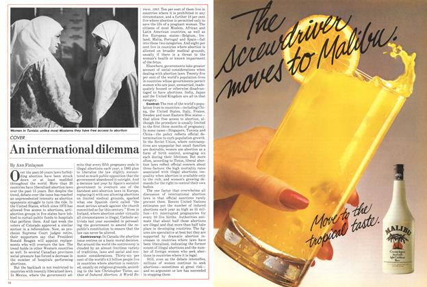 Article Preview: An international dilemma, November 1984 | Maclean's