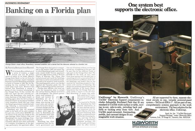 Article Preview: Banking on a Florida plan, November 1984 | Maclean's