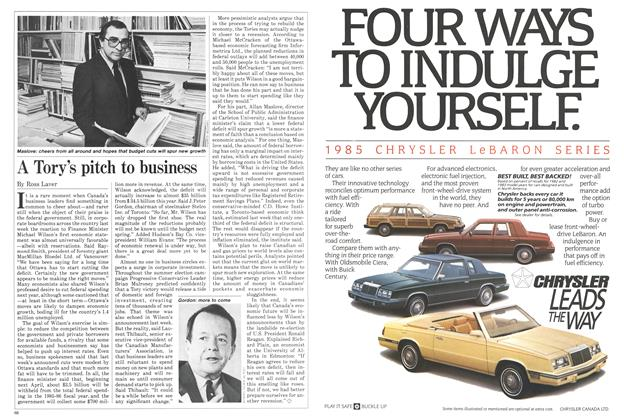 Article Preview: A Tory's pitch to business, November 1984 | Maclean's