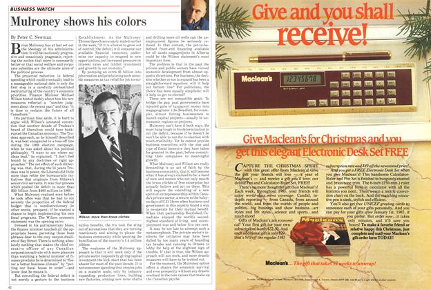 Article Preview: Mulroney shows his colors, November 1984 | Maclean's