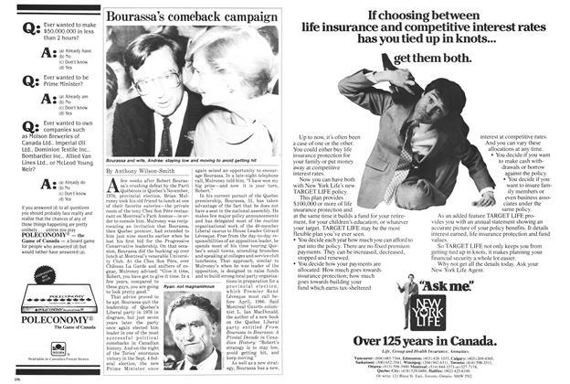Article Preview: Bourassa's comeback campaign, November 1984 | Maclean's