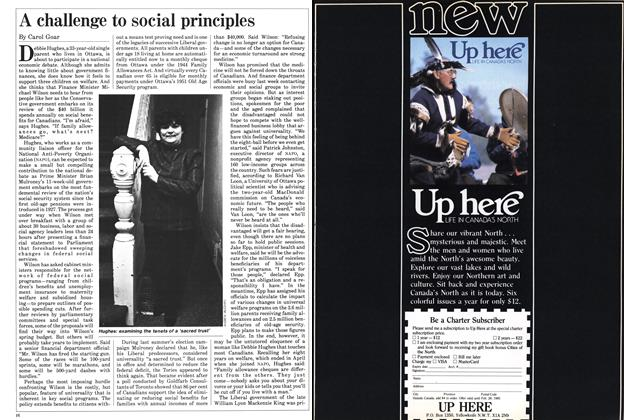 Article Preview: A challenge to social principles, November 1984 | Maclean's