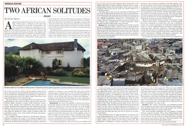 Article Preview: TWO AFRICAN SOLITUDES, November 1984 | Maclean's