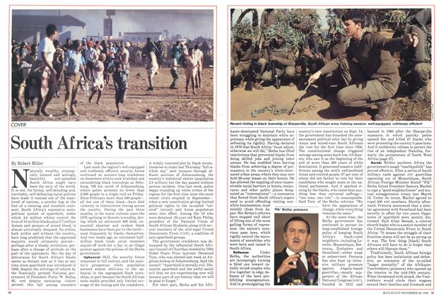 Article Preview: South Africa's transition, November 1984 | Maclean's
