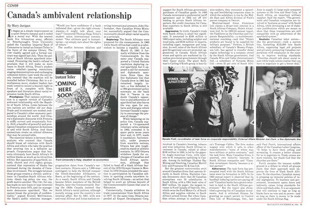 Article Preview: Canada's ambivalent relationship, November 1984 | Maclean's