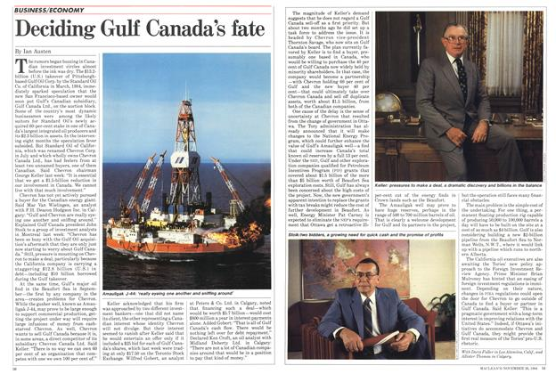Article Preview: Deciding Gulf Canada's fate, November 1984 | Maclean's