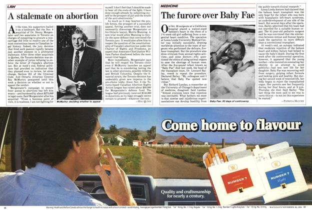 Article Preview: The furore over Baby Fae, November 1984 | Maclean's