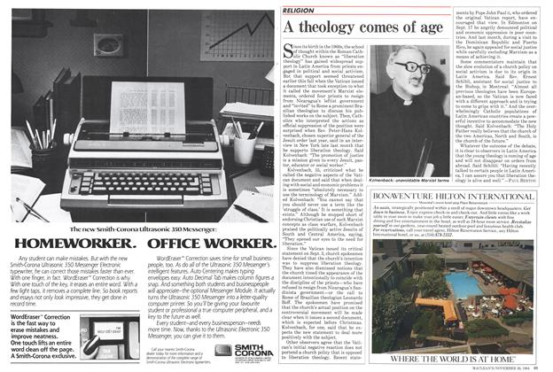 Article Preview: A theology comes of age, November 1984 | Maclean's