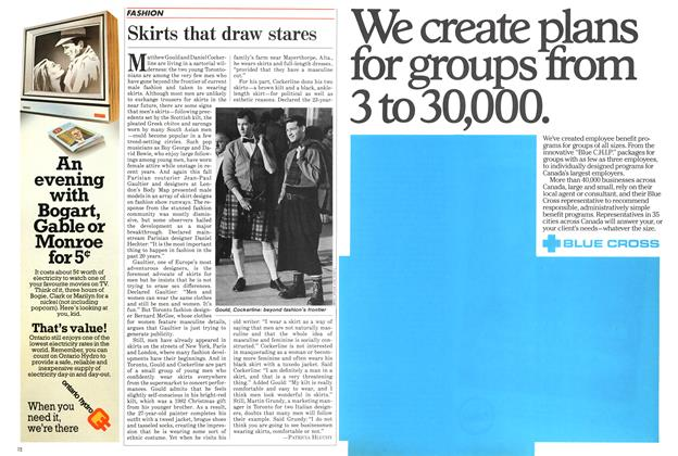 Article Preview: Skirts that draw stares, November 1984 | Maclean's