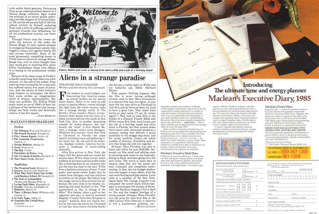 Article Preview: Aliens in a strange paradise, November 1984 | Maclean's