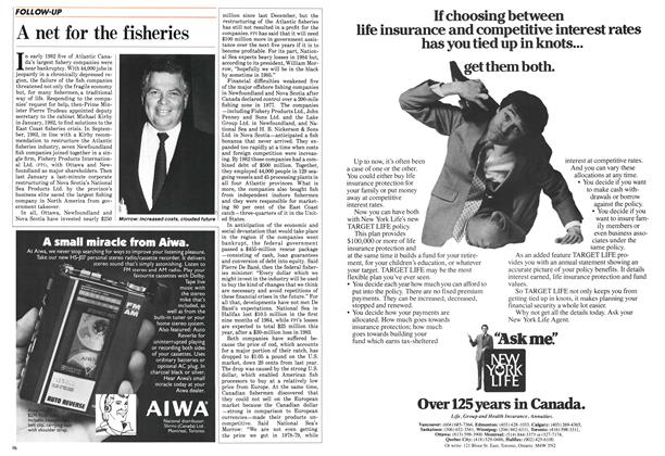 Article Preview: A net for the fisheries, December 1984 | Maclean's