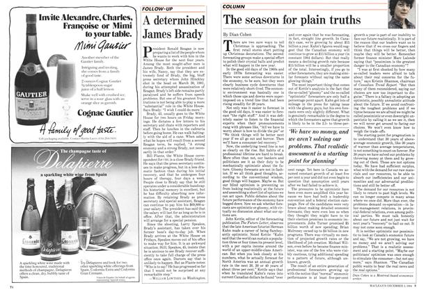 Article Preview: The season for plain truths, December 1984 | Maclean's