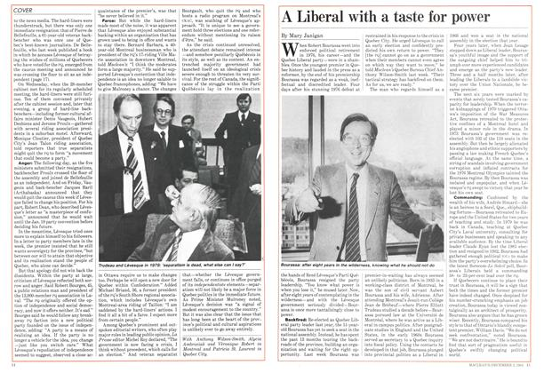 Article Preview: A Liberal with a taste for power, December 1984 | Maclean's