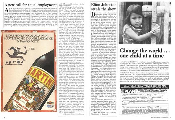Article Preview: Elton Johnston steals the show, December 1984 | Maclean's