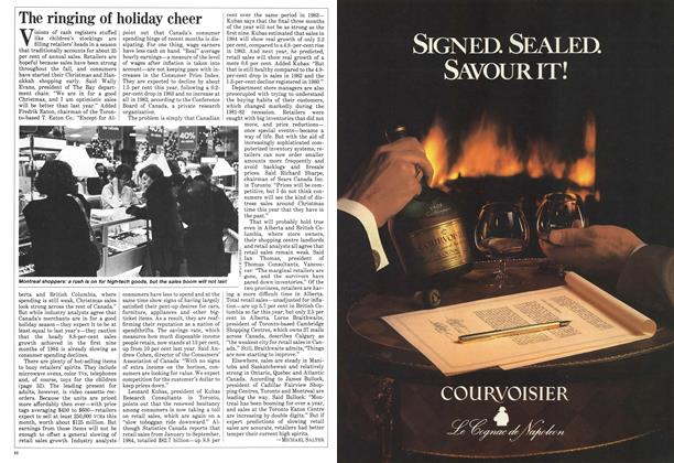 Article Preview: The ringing of holiday cheer, December 1984 | Maclean's