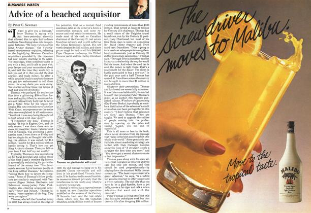 Article Preview: Advice of a beached acquisitor, December 1984 | Maclean's