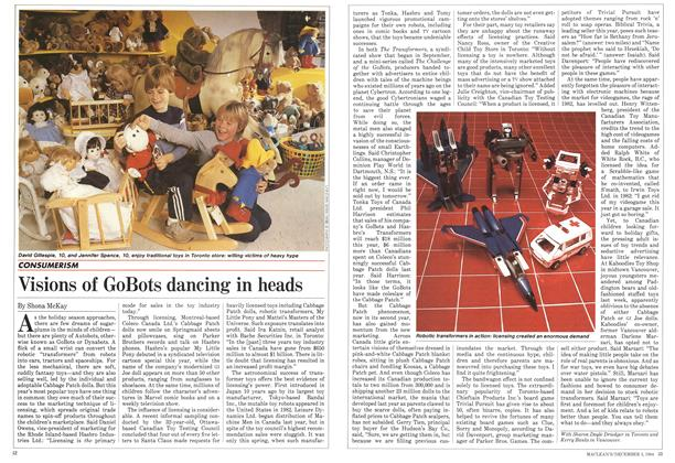 Article Preview: Visions of GoBots dancing in heads, December 1984 | Maclean's