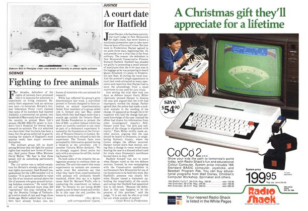 Article Preview: Fighting to free animals, December 1984 | Maclean's