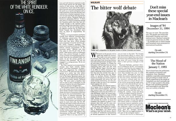 Article Preview: The bitter wolf debate, December 1984 | Maclean's