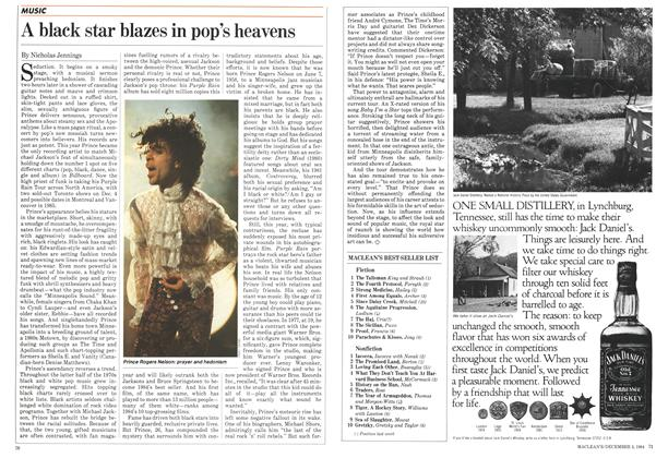 Article Preview: A black star blazes in pop's heavens, December 1984 | Maclean's