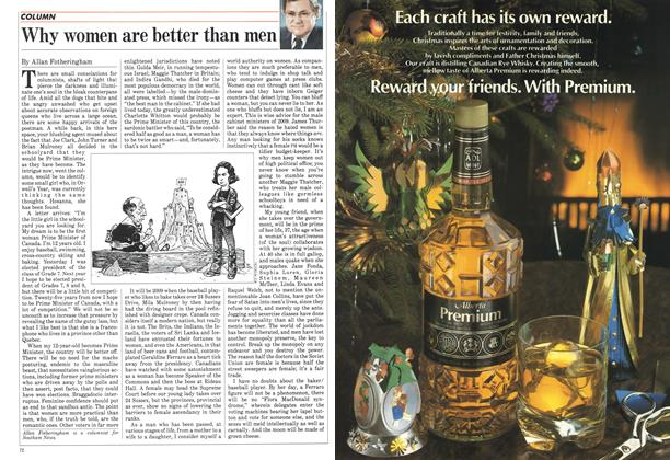 Article Preview: Why women are better than men, December 1984 | Maclean's