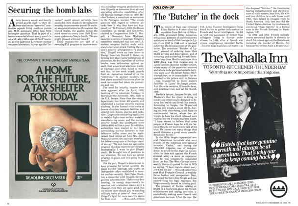 Article Preview: Securing the bomb labs, December 1984   Maclean's