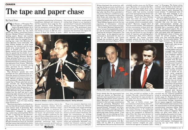 Article Preview: The tape and paper chase, December 1984   Maclean's