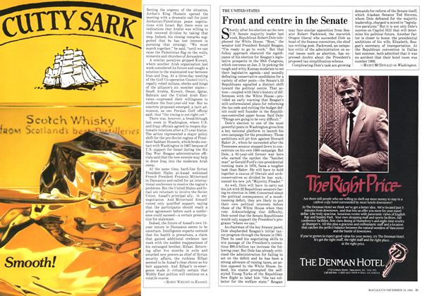 Article Preview: Front and centre in the Senate, December 1984 | Maclean's