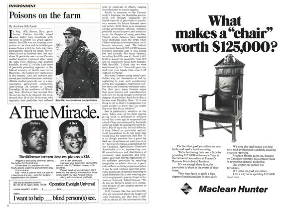 Article Preview: Poisons on the farm, December 1984 | Maclean's