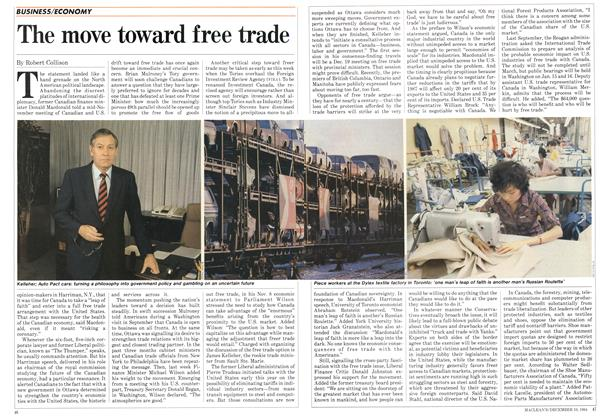 Article Preview: The move toward free trade, December 1984 | Maclean's