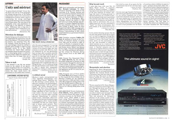 Article Preview: PASSAGES, December 1984   Maclean's