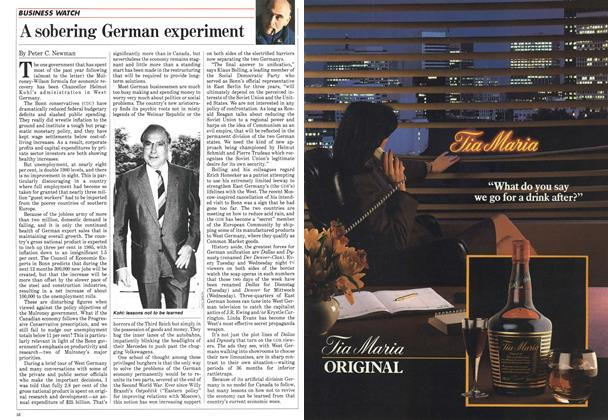 Article Preview: A sobering German experiment, December 1984 | Maclean's