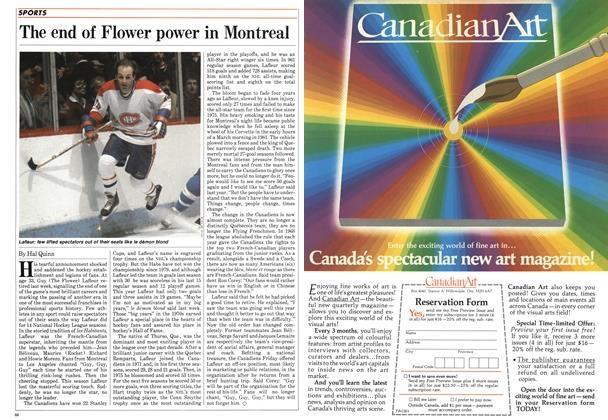 Article Preview: The end of Flower power in Montreal, December 1984 | Maclean's